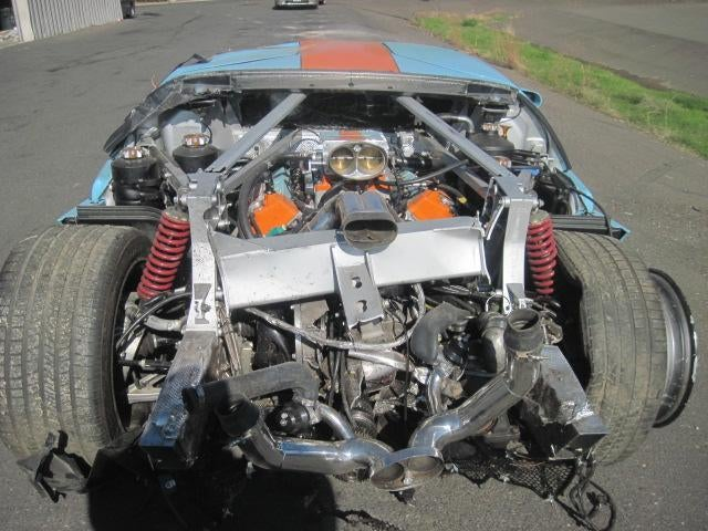 Totaled Ford GT