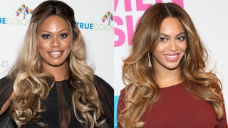 ​Laverne Cox Falls Over After Getting a Christmas Present from Beyoncé