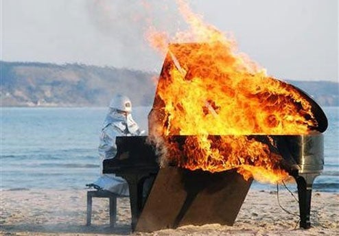 And Now, a Musical Interlude with Burning Piano Man