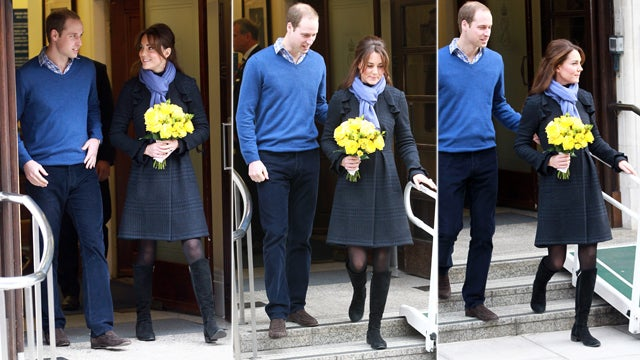 Kate Middleton Leaves the Hospital Looking No More Pregnant Than She Did When She Went In (Is She Faking?)