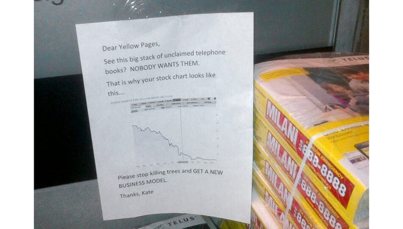 This Photo Perfectly Sums Up Everyone's Feelings On the Yellow Pages