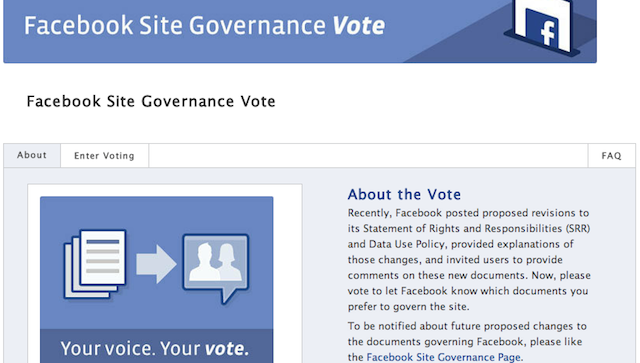 Now Is Your Chance to Vote on the Facebook Privacy Policy You Still Haven't Read