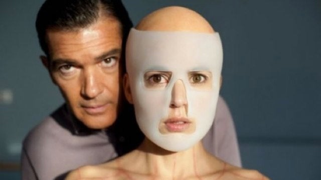 A horrifying look at mad scientist Antonio Banderas and his human guinea pig
