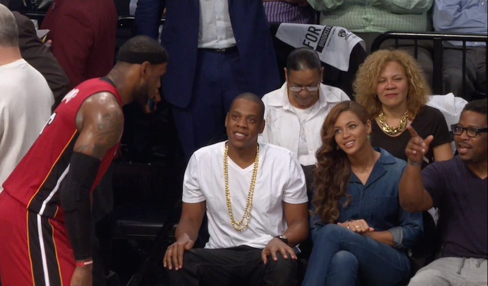 Beyoncé and Jay Z Are Playing it Cool at the Nets Game Tonight
