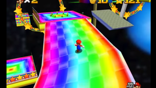 Someone Turned Rainbow Road Into <i>A Super Mario 64</i> Level