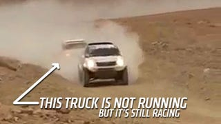 Dakar Rally Racers Literally Tow Each Other Across Finish Lines