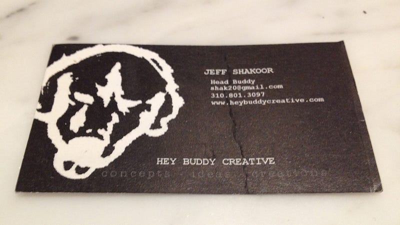 This Is The Stupidest, Most LA Business Card Ever