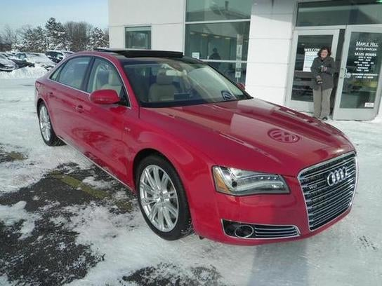 Red Audi A8L W12 for sale