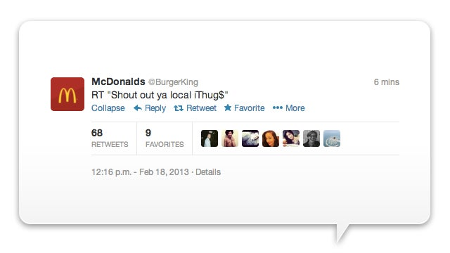 Burger King Twitter Hacked Into McDonald's (Update: Account Suspended)