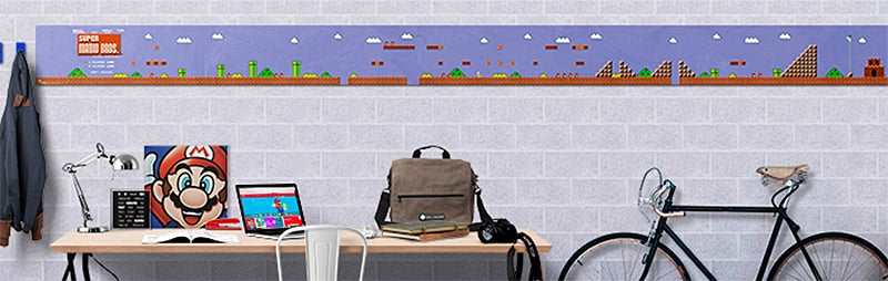 Power-up Your Walls With This Super Mario Bros. Level 1-1 Poster Set