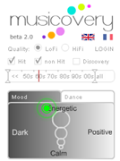 Discover new music with Musicovery