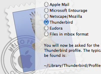 Use Thunderbird to Move from Outlook to Apple Mail
