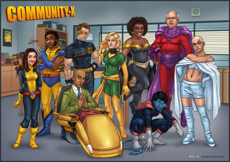 Community + X-Men = Xavier's Community College for Gifted Mutants