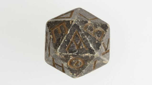 Earliest d20 die? Probably not, but close!