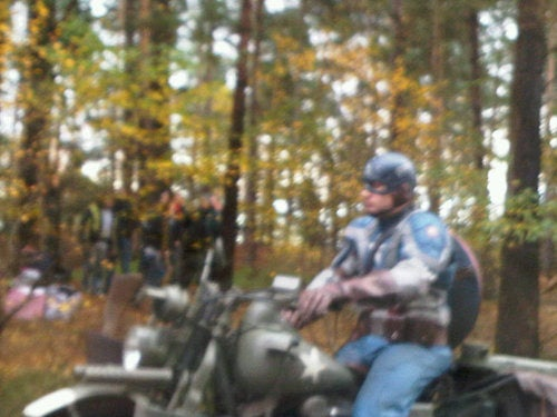 Captain America set photos