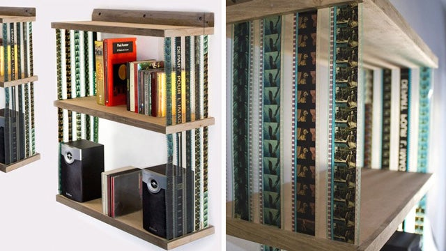 There's No Better Place For Your DVDs Than a Shelf Made From 35mm Film