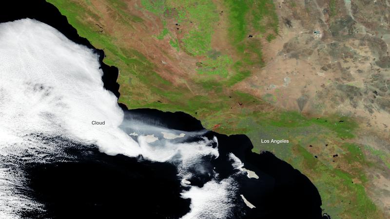 Amazing Satellite View Shows California Wildfire Smoke Over Ocean
