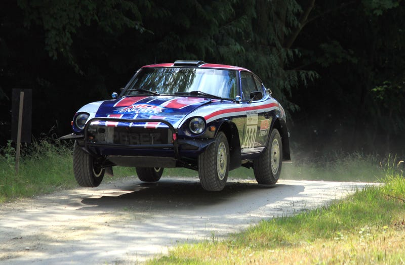 This is a 260z rally car