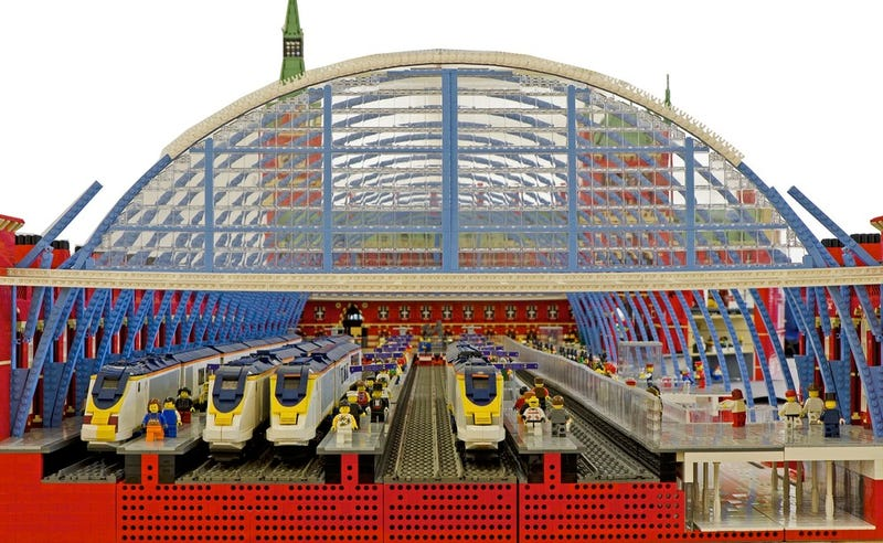 Gigantic Lego St. Pancras Station is 120,000 bricks of brilliant!