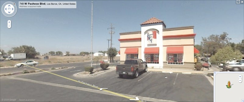 Hungry Google Street View Driver Directs You To Local KFC