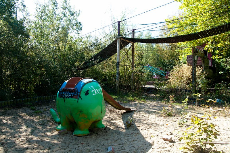 Tour the graffiti-covered ruins of Belgium's dangerous amusement park