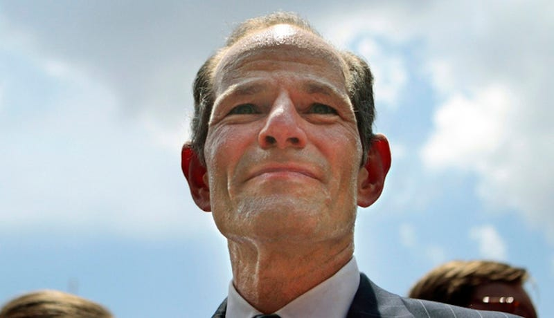 Kids Forced to Watch Eliot Spitzer Suck His Topless Girlfriend's Toes