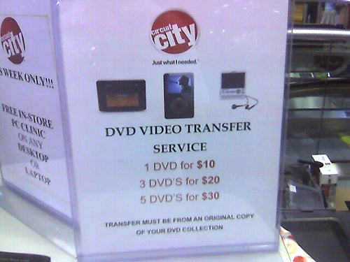 Circuit City Violates DMCA For $10