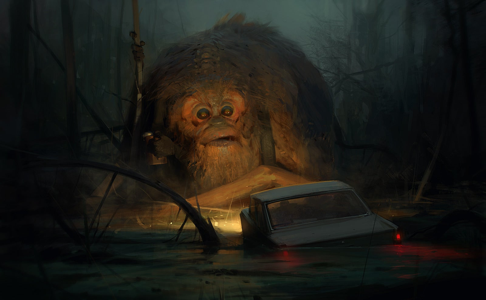 Concept Art Writing Prompt: A Monster Problem In The Swamplands