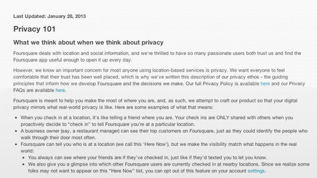 How to Protect Your Privacy on Foursquare