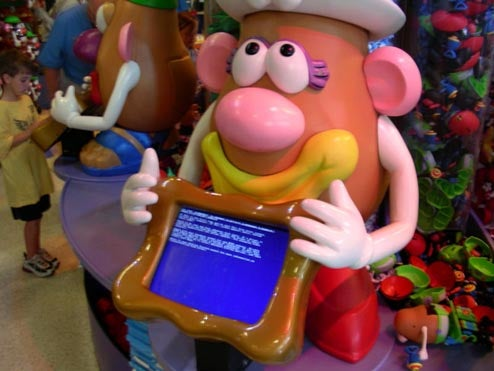Mrs. Potato Head BSOD Reeks of Disney Magic