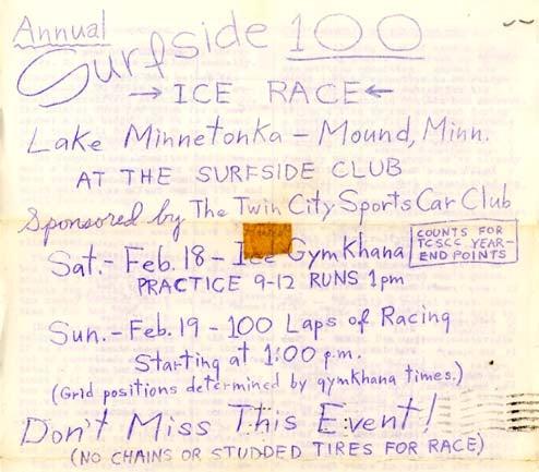 Minnesota, February 1967: Let's Go Racing!