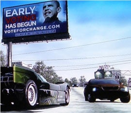 Barack Obama Campaigns on Burnout Paradise