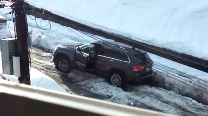 Jeep Stuck In Snowbank Makes Man Go Incredible Hulk Apeshit Mad