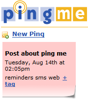 Set up quick SMS reminders with PingMe