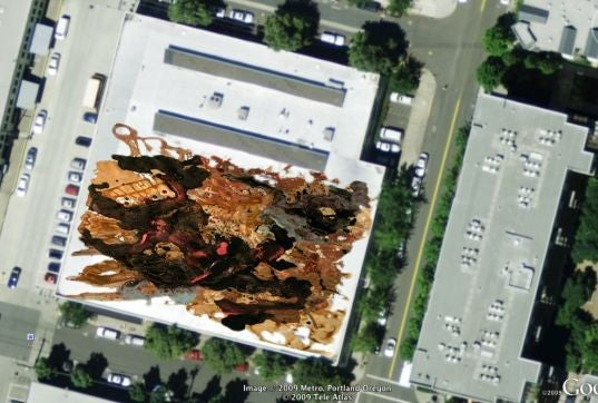 Paintings For Satellites: Rooftop Art Targets a Google Earth Audience