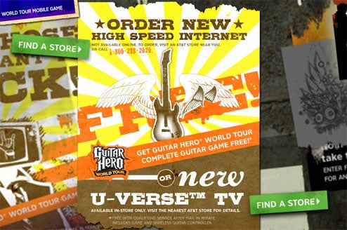 AT&T Just Giving Away Copies Of Guitar Hero: World Tour