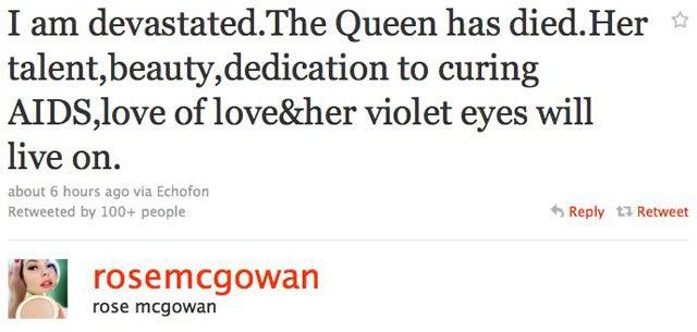 Celebs Remember Elizabeth Taylor On Twitter
