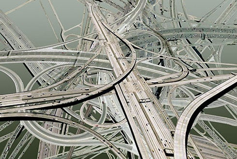 A Twelve-Layer Freeway Clover for Los Angeles