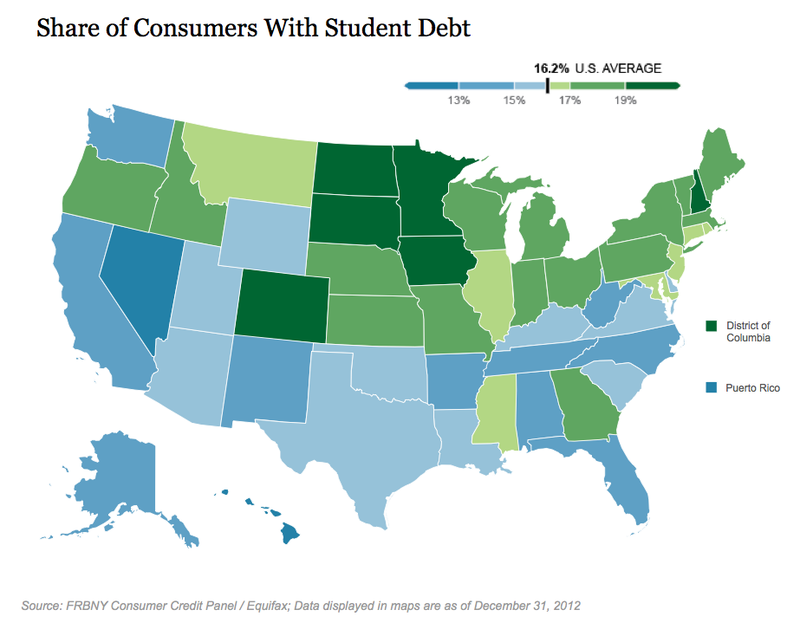 DC Has America's Highest Concentration of Student Loans
