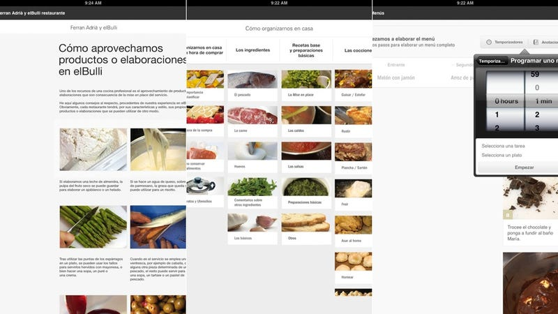elBulli's Cooking App Is Perfect