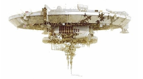 District 9's Alien Ship Is One Beautiful Space Mess