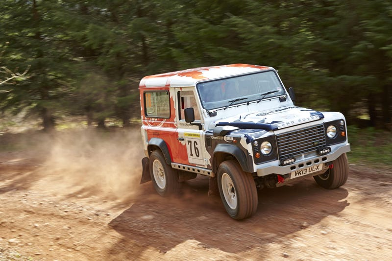 Rally-Spec Land Rover Defenders Racing In Robin Hood's 'Hood Tomorrow
