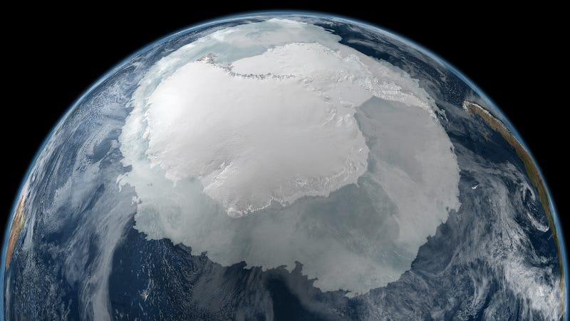 Antarctica looks so incredibly huge from space