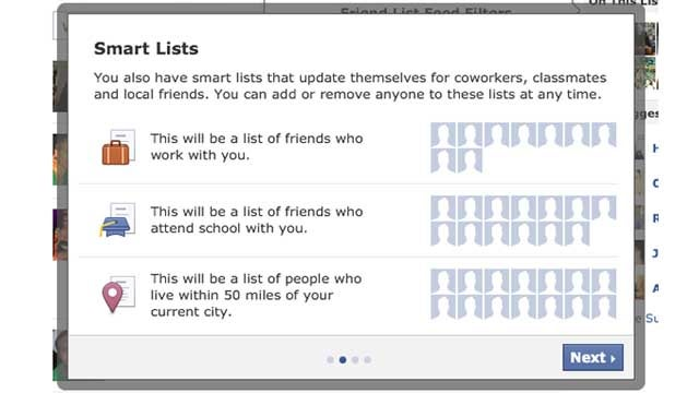 Facebook's Smart Lists Make Social Circles for You