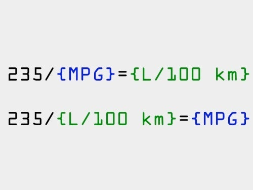 How To Convert MPG To L/100 Km In Your Head