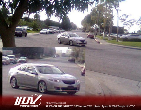 2009 Acura TSX Caught Outside Honda HQ