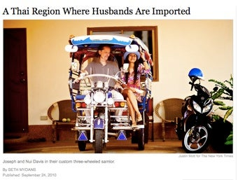 """""""It Happens Every Day"""": Foreign Husbands In Thailand"""