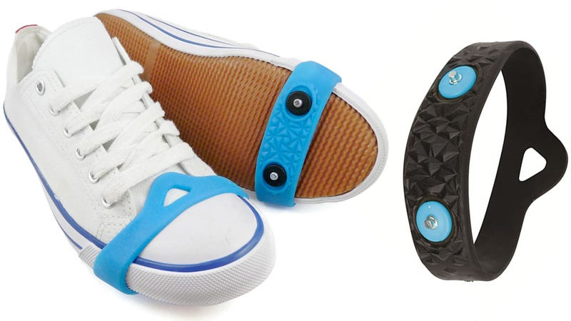 This Spiked Rubber Band Equips Any Shoe for Icy Weather