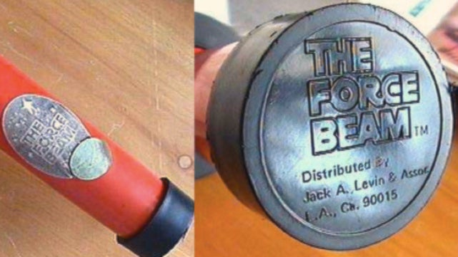 """The Force Beam,"" perhaps the very first bootleg Star Wars toy"