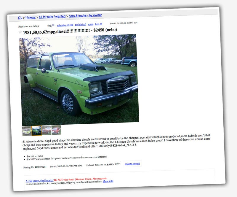 These Chevettes Of Madness Are The Craigslistiest Craigslist Ad Ever